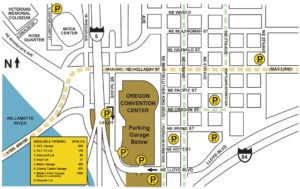 Oregon Convention Center Map